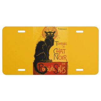 Vintage Black Cat Art Nouveau Chat Noir Steinlen License Plate
