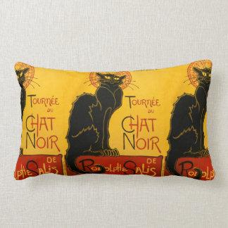 Vintage Black Cat Art Nouveau Chat Noir Steinlen Throw Pillow