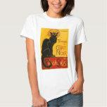 Vintage Black Cat Art Nouveau Chat Noir Steinlen Shirt