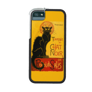 Vintage Black Cat Art Nouveau Paris Cute Chat Noir iPhone 5/5S Case