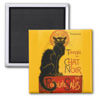 Vintage Black Cat Art Nouveau Paris Cute Chat Noir Magnet