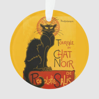 Vintage Black Cat Art Nouveau Paris Cute Chat Noir Ornament