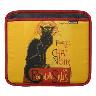 Vintage Black Cat Art Nouveau Paris Cute Chat Noir Sleeve For iPads