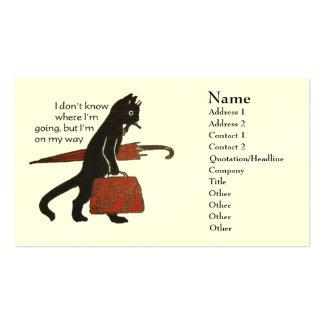Vintage Black Cat Business Cards