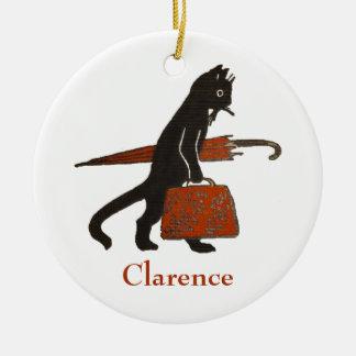 Vintage Black Cat Christmas Ornament Template