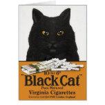 Vintage Black Cat Cigarette Ad Note Card