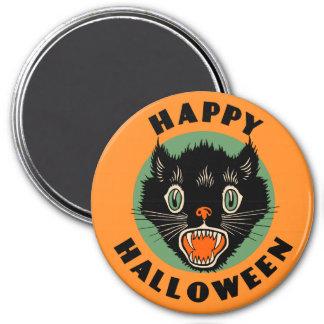 Vintage Black Cat - Happy Halloween Magnet