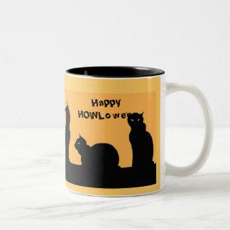 Vintage Black Cat HOWLoween mug