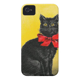 Vintage Black Cat iPhone 4 Cover