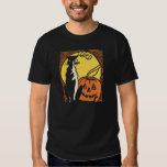 Vintage Black Cat & Jack O'Lantern Halloween Shirt