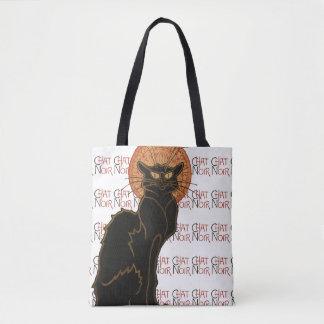 Vintage Black Cat Le Chat Noir Art Nouveau Tote Bag