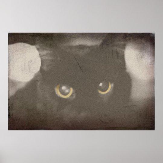 Vintage Black Cat Poster