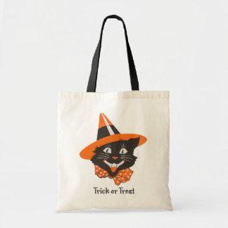 Vintage Black Cat Tote Bag