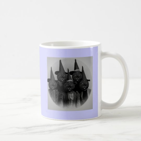 Vintage Black Cat/Witches Coffee Mug