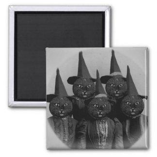 Vintage Black Cat/Witches Magnet