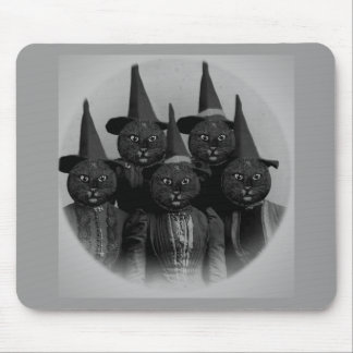 Vintage Black Cat/Witches Mouse Pads