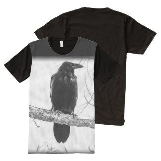 Vintage Black Crow Photography Print All-Over-Print Shirt