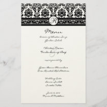 Vintage Black Damask Borders