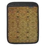 Vintage black damask pattern Rickshaw iPad sleeve