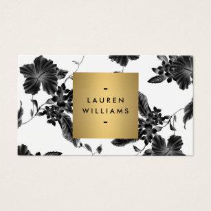 Vintage business cards templates zazzle vintage black floral pattern business card colourmoves