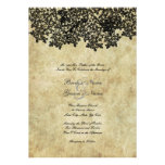Vintage Black Floral Wedding Invitations