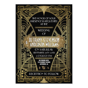 Old Hollywood Wedding Invitations & Announcements | Zazzle