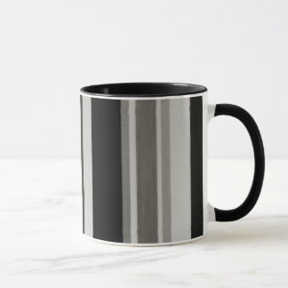Vintage Black Gray Patterns Stripes Mug