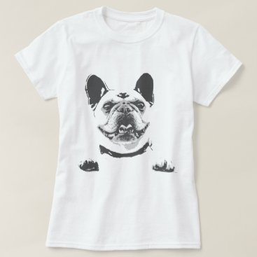 Beach Themed Vintage Black Grey French Bulldog Graphic T-Shirt