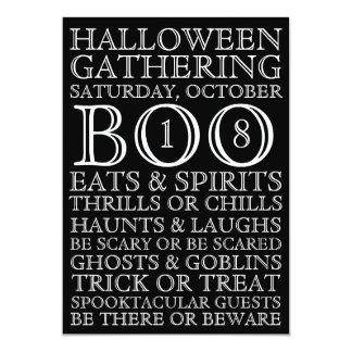 Vintage Black Halloween Party Invitation