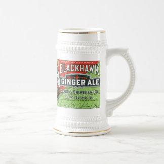 Vintage Black Hawk Ginger Ale Stein