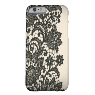 Vintage black Lace beige Paris fashion Barely There iPhone 6 Case