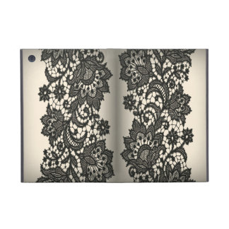 Vintage black Lace beige Paris fashion iPad Mini Cover