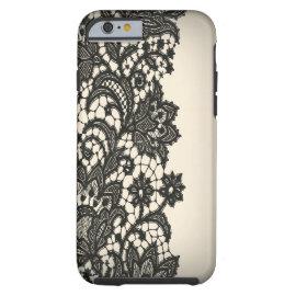 Vintage black Lace beige Paris fashion iPhone5case iPhone 6 Case
