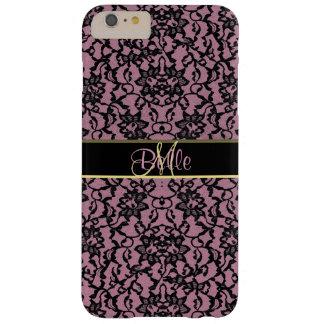 Vintage Black Lace on Dusky Pink iPhone 6/6S Case