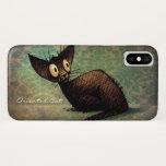Vintage Black Oriental Shorthair Cat iPhone X Case