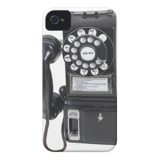 Vintage Black Pay Phone iPhone 4 Cases