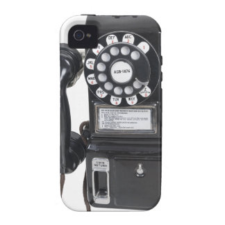 Vintage Black Pay Phone iPhone 4 Covers