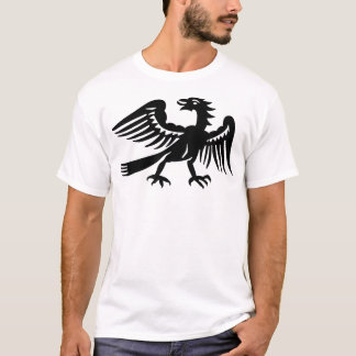 Vintage Black Phoenix Bird T-Shirt