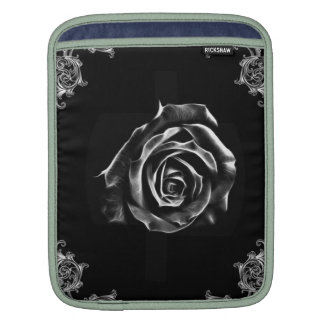 Vintage Black  rose by artD design Sleeves For iPads