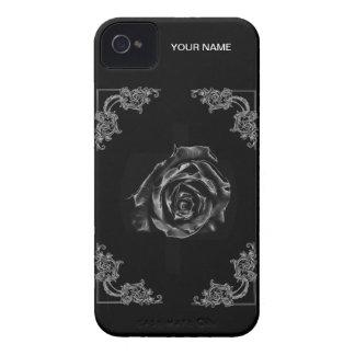 Vintage Black  rose phone case
