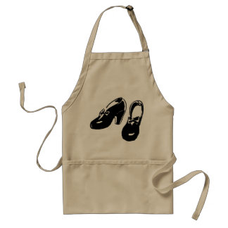 Vintage Black Shoes Apron