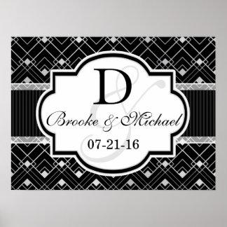 Vintage Black & Silver Art Deco Wedding Poster