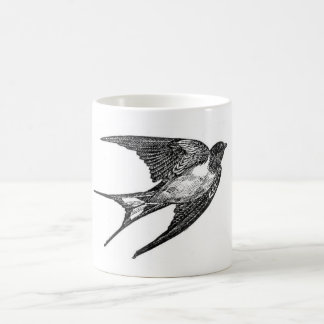 Vintage Black Swallow Design Coffee Mug