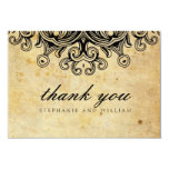 Vintage Black Wedding Thank You Card