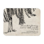 Vintage Black Weeping Willow Save The Date Vinyl Magnets