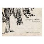 Vintage Black Weeping Willow Tree Large Business Cards (Pack Of 100)