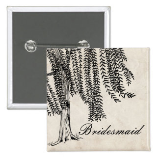 Vintage Black Weeping Willow Tree Pin