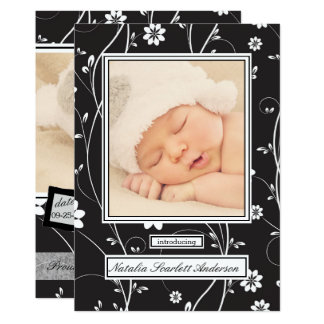 Vintage Black & White - Birth Announcement