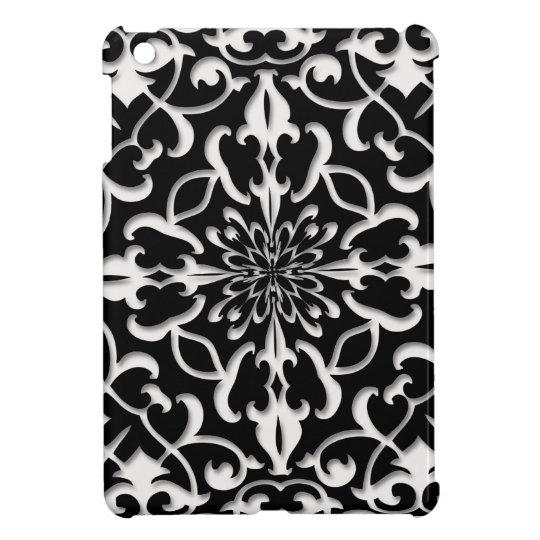 Vintage Black White Damask iPad Mini Case