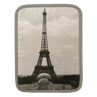 Vintage Black White Eiffel Tower Sleeves For iPads